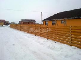 Tvoros, vartai segmentinės, tinklinės medinės - nuotraukos Nr. 10