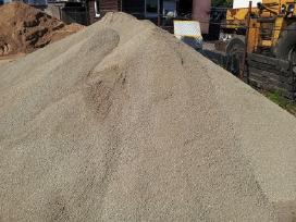 Cementas, žvyras betonavimui, atsijos
