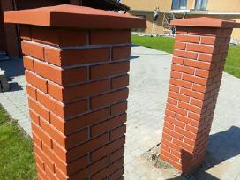 Klinkerio imitacijos tvoros kepurės, stogeliai