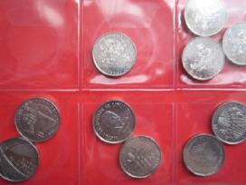 Proginių apyvartinių 1 lito monetų rinkinys 8vnt