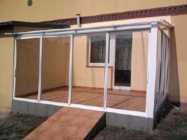 Balkono stiklinimas Aliuminio-bėgelių sistema