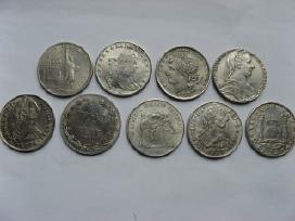 9 vnt.monetu kopijos
