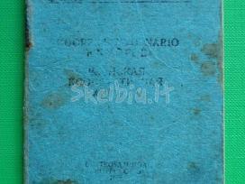 Tarybine koperatyvo nario knygele