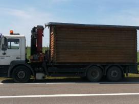 Fiskaro krano nuoma, krovinių pervežimas su kranu,