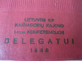1958 Lietuvos Kp Delegatui.. .zr. foto.