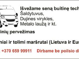Krovinių pervežimas,šiukšlių išvežimas(garaž.sandė