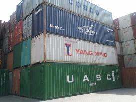 Pigiausiai jūriniai 20 ir 40 pėdų konteineriai.