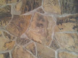 Akmens plokštės takams, sienų apdailai