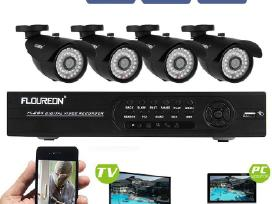 4 kamerų komplektas su 8 kanalų Dvr