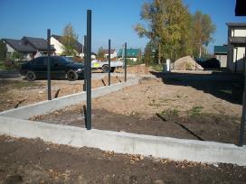 Tvoros pamatai, tvorų stulpų betonavimas - nuotraukos Nr. 2