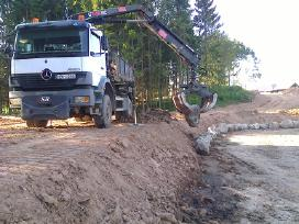 Sunkvežimis su kranu (4x4) nuoma