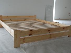 Nauja dvigulė medinė lova masyvas 180x200