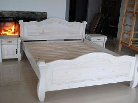 Nauja dvigulė medine lova masyvas 140x200