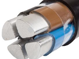 Kabelis aliuminis 4x16 - 1,30eur uz 1m
