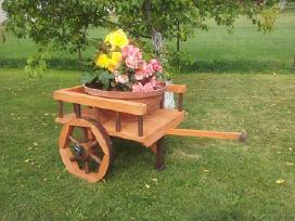 Vežimas, pusvežimis, karutis, gėlėms, malūnas