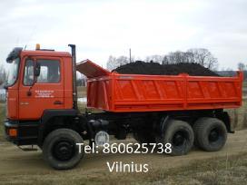Juodzemis, zvyras, smelis, skalda, atsijos Vilnius
