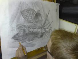 Piešimas, tapyba, kompozicija. nuotolinis ir.