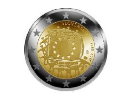 SLOVAKIJA 2015 30 Years EU Flag 3 EUR