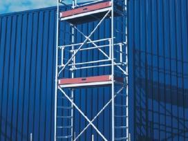 Mobilus aliuminis bokštelis su ratukais - nuoma