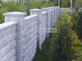 Skaldyto akmens imitacijos tvoros stulpu blokeliai