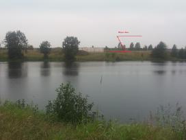 Unikalus žemės sklypas su vaizdu į tvenkinį - nuotraukos Nr. 3
