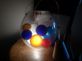 Origin.ispanu sviestuvas su spalv. stiklo burbul.