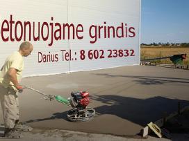 Grindų betonavimas,