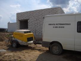 Grindu betonavimas,betonuojame nedidelius plotus