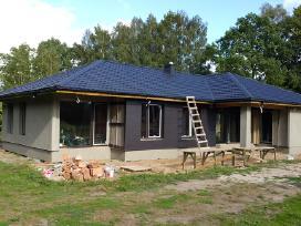 Stogdengiai stogo dengimas Karkasinių namų statyba
