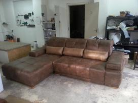 Minkštų baldų pervilkimas ir restauravimas - nuotraukos Nr. 5