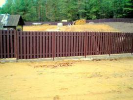 Segmentinės, tinklinės, medinės tvoros, vartai! - nuotraukos Nr. 4