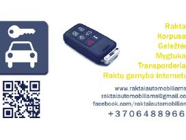 Automobilių raktai Programavimas Remontas