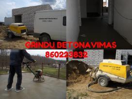 Grindų betonavimas,betonuojame nedidelius plotus