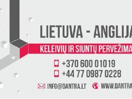 Siuntiniai ir kroviniai. Lietuva- Anglija-Lietuva