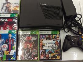 Parduodu Xbox360 slim250gb su nba16, fifa16 gta5