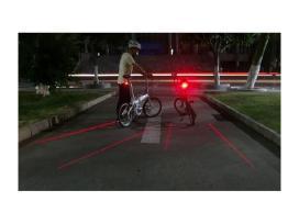 Led lazerinis žibintas - pažymėkite savo dviračio
