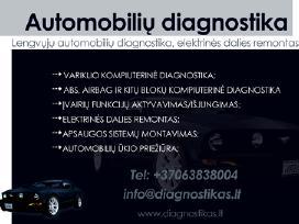 Kompiuterinė diagnostika, autoelektriko paslaugos