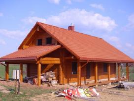 Rąstiniai namai, pirtys, stogai