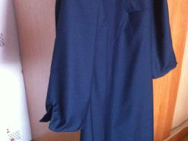 Tamsiai mėlyna klasikinė suknelė