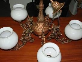 Bronzinis penkių lempų šviestuvas