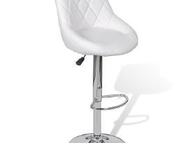 2 Baltos Baro Kėdės 240466 vidaxl - nuotraukos Nr. 4