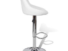 2 Baltos Baro Kėdės 240466 vidaxl - nuotraukos Nr. 5