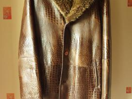 Žieminė natūralaus kailio striukė