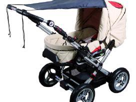 Vežimėliu priedai nuo saules ir lietaus