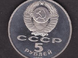 TSRS moneta 5 rubliu 1989 Proof Pokrova N104*