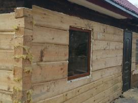 Rąstinių namų statyba/senų namų rąstų keitimas - nuotraukos Nr. 9