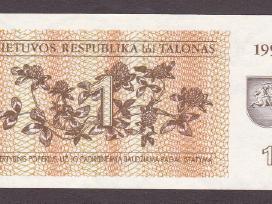 Lietuva kupiura 1 talonas 1992 Mg035199 N168+*