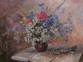 Pievų gėlės 50x70, drobe, aliejus,