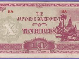 Birma banknota 10 Rupees 1942-1944 N185+*
