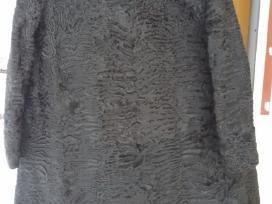 Karakulčios kailiniai juodi.nuolaida